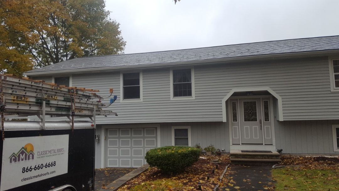 Stow, MA - Another lifetime aluminum metal Oxford shingle roof in Stow Mass