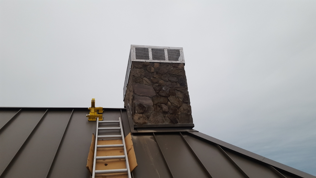 Guilford, CT - Final touch in Gilford Conn new chimney cap