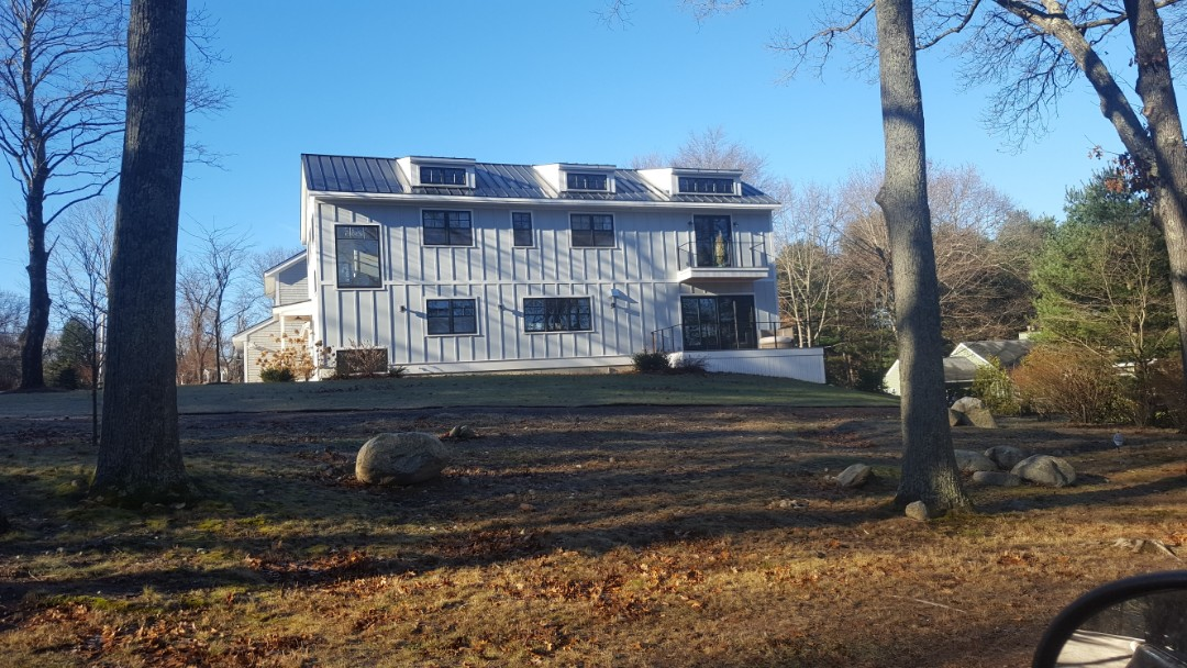Dover, MA - Aluminum standing seam roof color dark bronze
