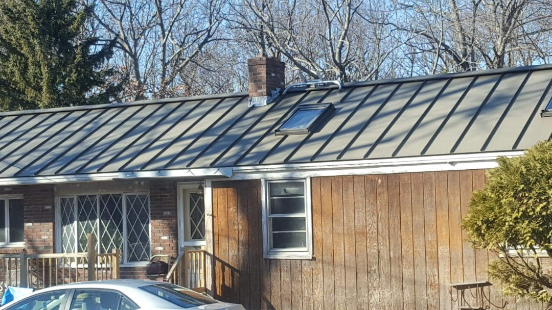 Princeton, MA - Aluminum standing seam roof ready for winter!