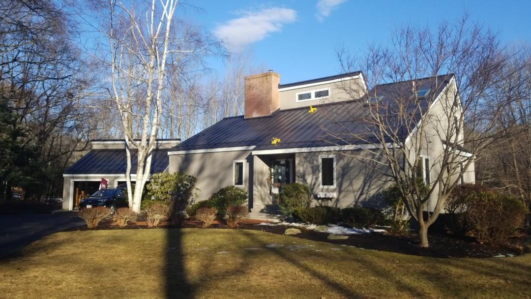Boxborough, MA - Another beautiful standing seam aluminum roof done.