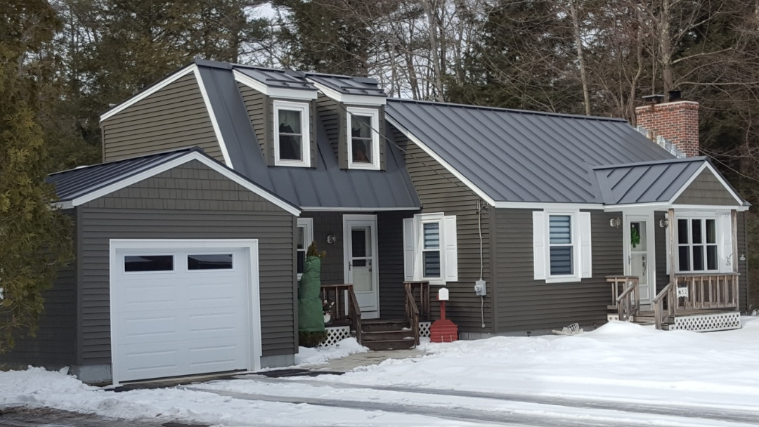 Templeton, MA - Lovely standing seam aluminum metal roof on this modified cape.