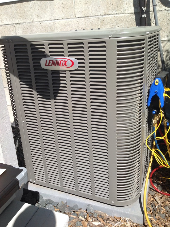 Eagle Lake, MN - Completed annual servicing on a Lennox Central Air Conditioning Unit.