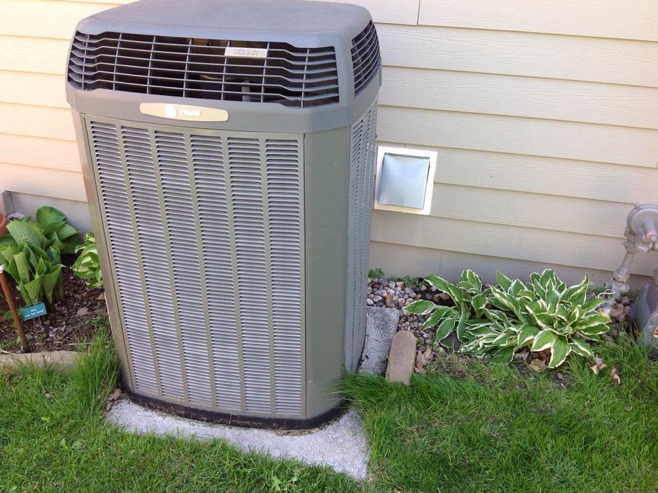 Elysian, MN - Annual maintenance on TRANE HVAC equipment