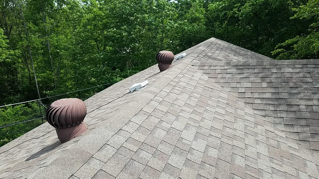 Frankfort, KY - We are in Frankfort looking at a hail damaged roof that needs a full replacement