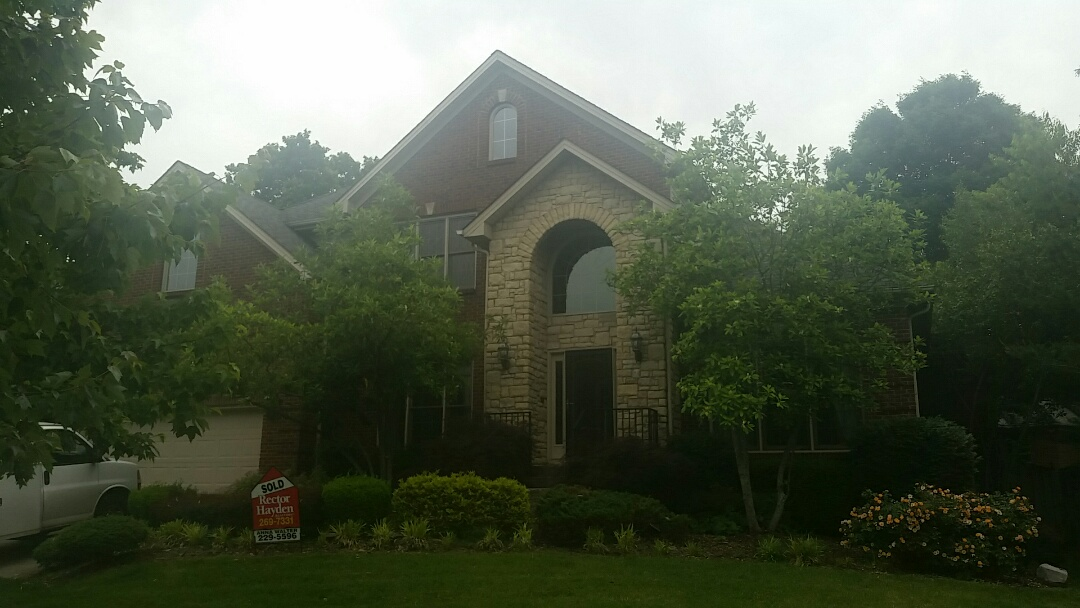 Lexington, KY - We are in the reserve in Beaumont neighborhood investigating some missing shingles.