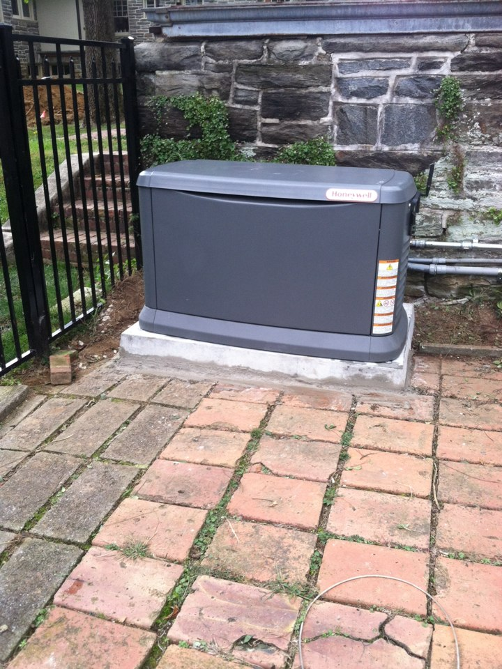 Wayne, PA - Installed Honeywell whole house Generator in Wayne Pa