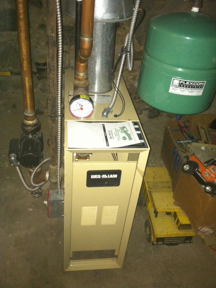 Ardmore, PA - Performed annual service on a Weil McLain gas boiler in Ardmore, Pa.