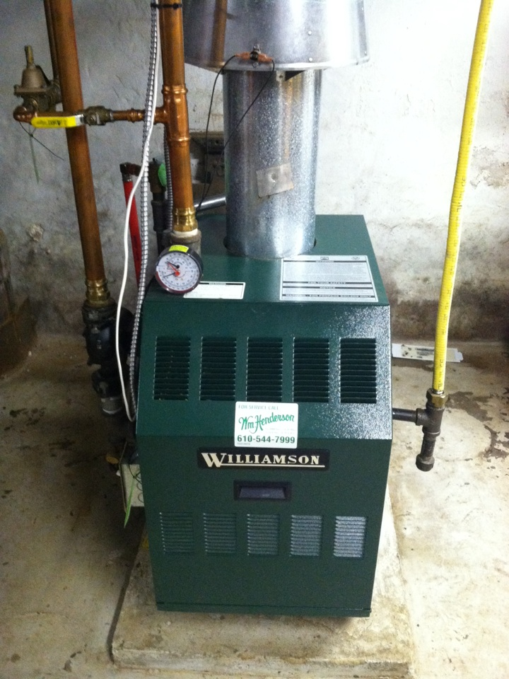 Media, PA - Performed an annual tune up on a Williamson gas boiler Media, Pa.