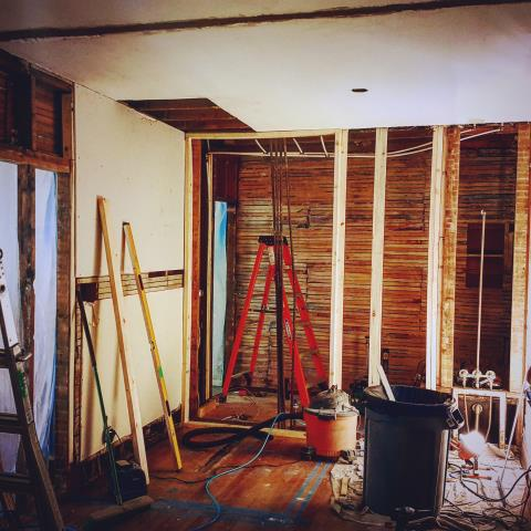 Hamtramck, MI - Always exciting renovating historic homes and create living spaces that suit their new owners.