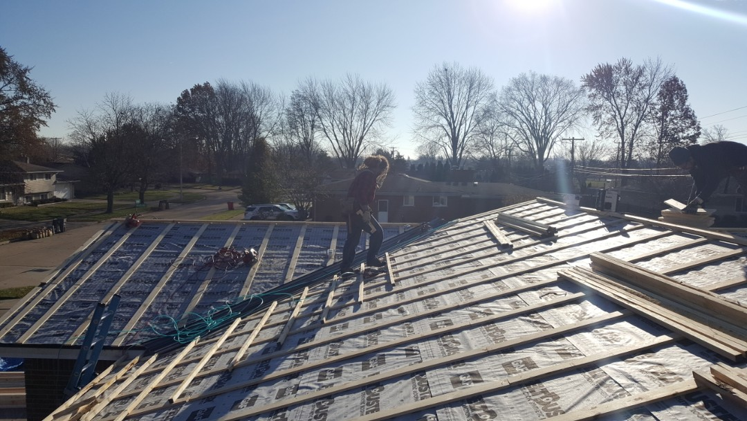 Charter Township of Clinton, MI - Stone coated steel roofing, counter-batten installation allows us to install over your existing roof reducing the costs of demolition and improves ventilation for your steel roofing installation to eliminate the cause ice damming.