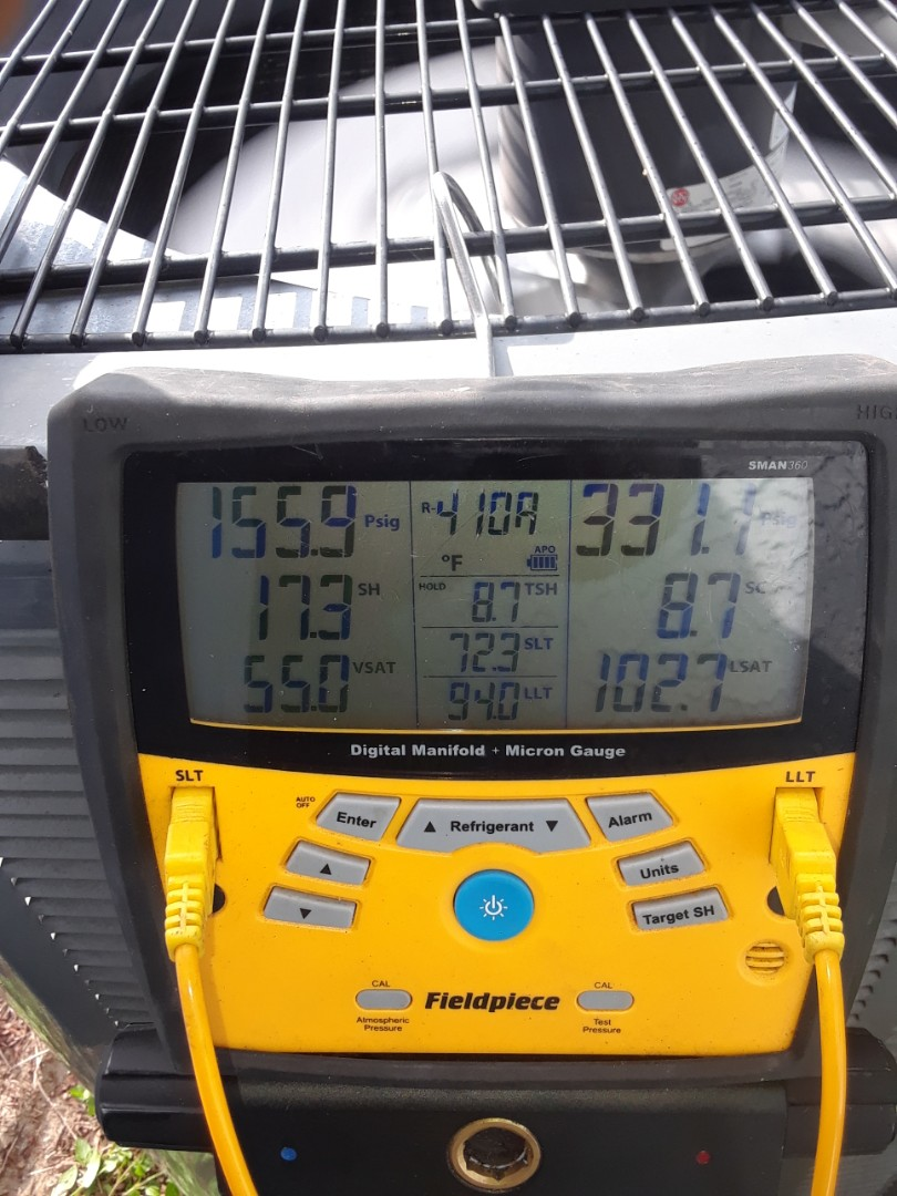 Ocoee, FL - Checking pressures on AC equipment