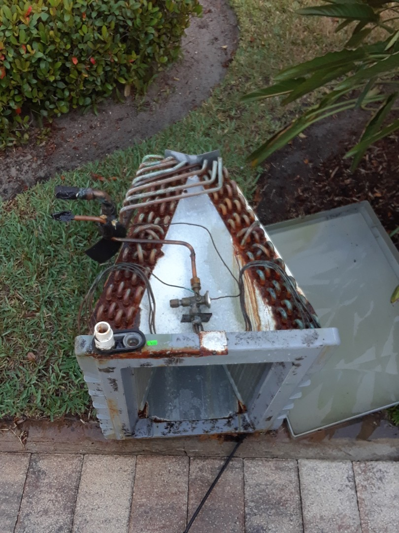 Winter Park, FL - Pulling clean for family and Orlando evaporator coil