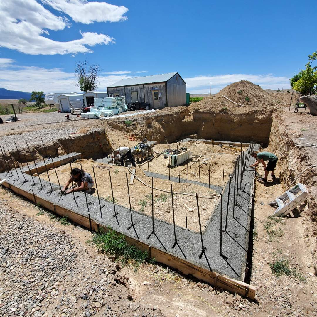 Palisade, CO - Building an ICF swimming pool in Palisade.
