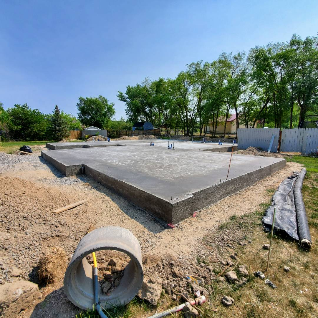 Grand Junction, CO - All build construction just completed the slab foundation for 636 silver oak