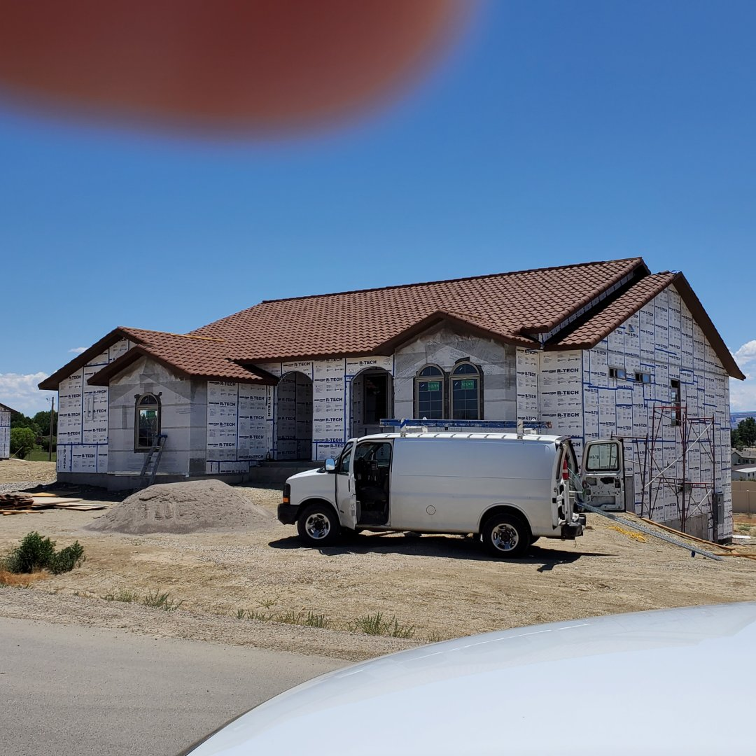 Fruita, CO - Allbuild Construction is doing a composite roof system on this custom home in fruita,  co.