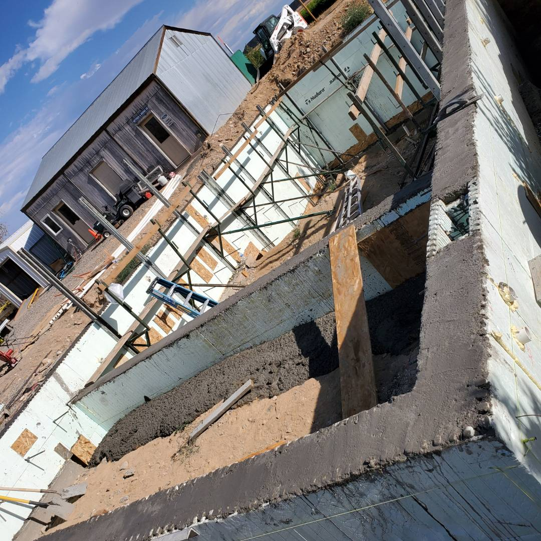Palisade, CO - Allbuild.construction poured the concrete in the walls of an ICF, (insulated concrete form) swimming pool today in palisade Colorado.