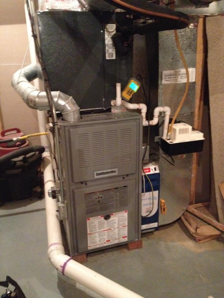 Warrington, PA - Replace fan motor on gas furnace