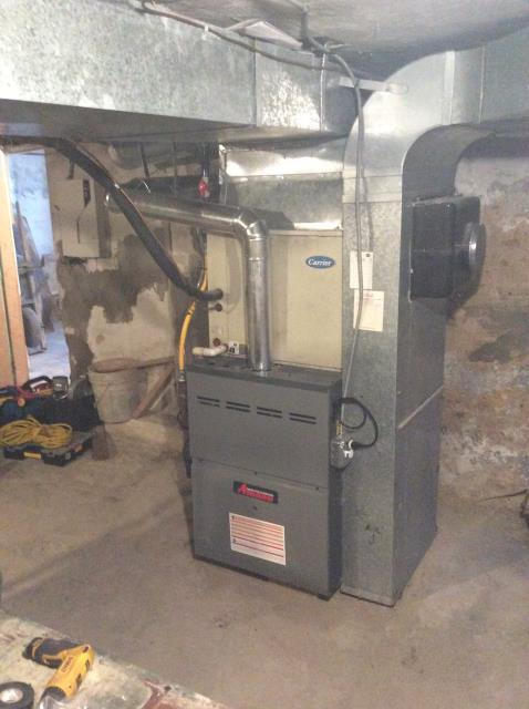 Supplied and installed new furnace