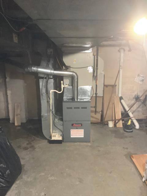 Jenkintown, PA - Customer had no heat... Supplied and installed new Amana Gas Furnace