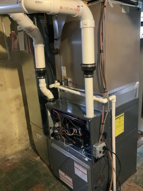 Supplied and installed new Amana Gas Furnace