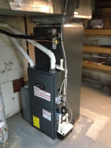 Springfield, PA - Supplied and installed 95%  furnace, 3 ton 14 seer heat and cool.