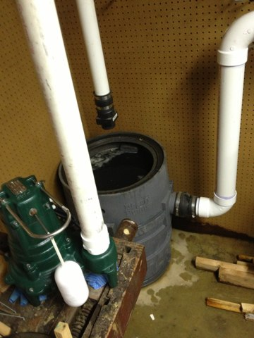 Huntingdon Valley, PA - EeeeeeeeeWwwwwww somebody's gotta do it.      Replaced sewage ejector pump. Plumbing Repair