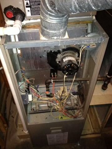 Lafayette Hill, PA - Heating inspection on the contract replaced flame sensor on Bryant furnace