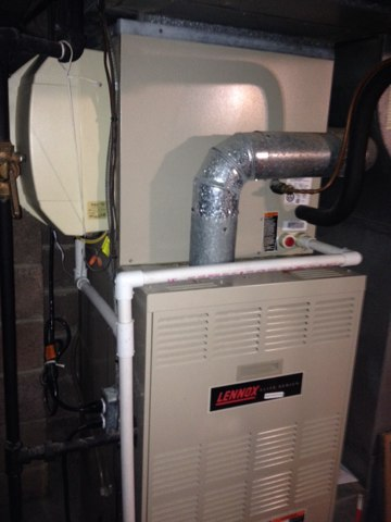 Meadowbrook, PA - Heat inspection on Lennox Gas Furnace and a desperately needed Humidifier service and sanitation!!