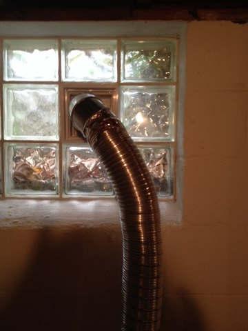 Lafayette Hill, PA - Finished dryer vent installation