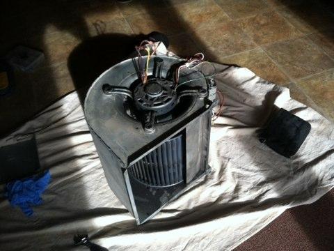 Jamison, PA - Heater Repair - Installed New 3/4 hp blower wheel motor .