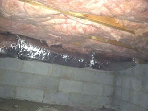 Cheltenham, PA - Replace flex duct in craw space