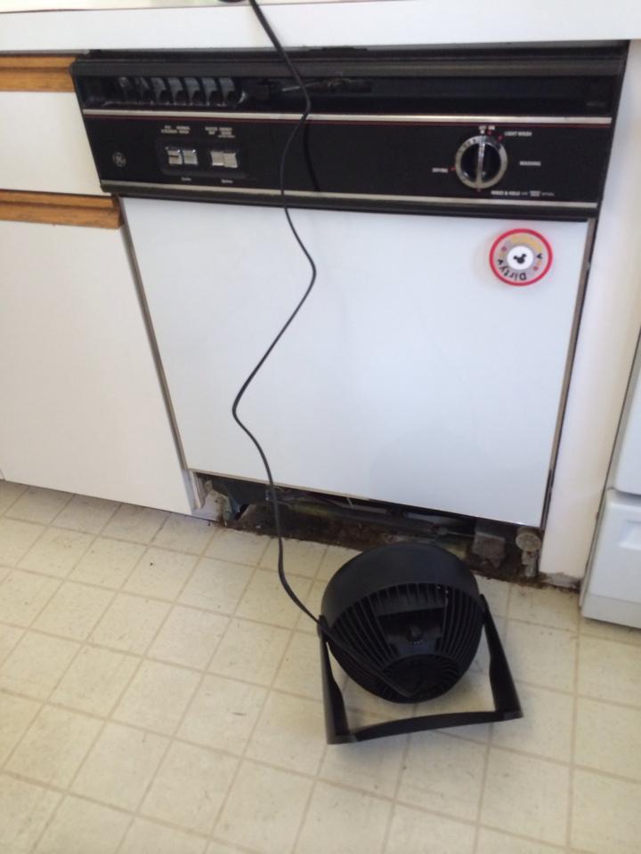 Erdenheim, PA - Research leak Found leak at dishwasher shut Supply off
