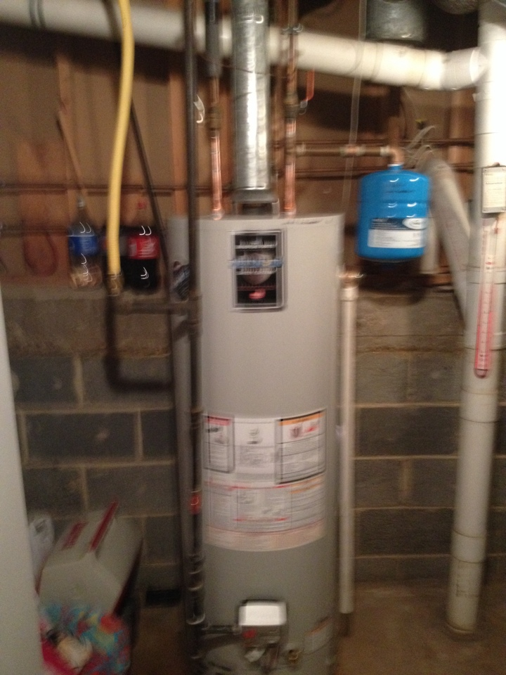 Erdenheim, PA - Found leaking water heater supply and install a new water heater