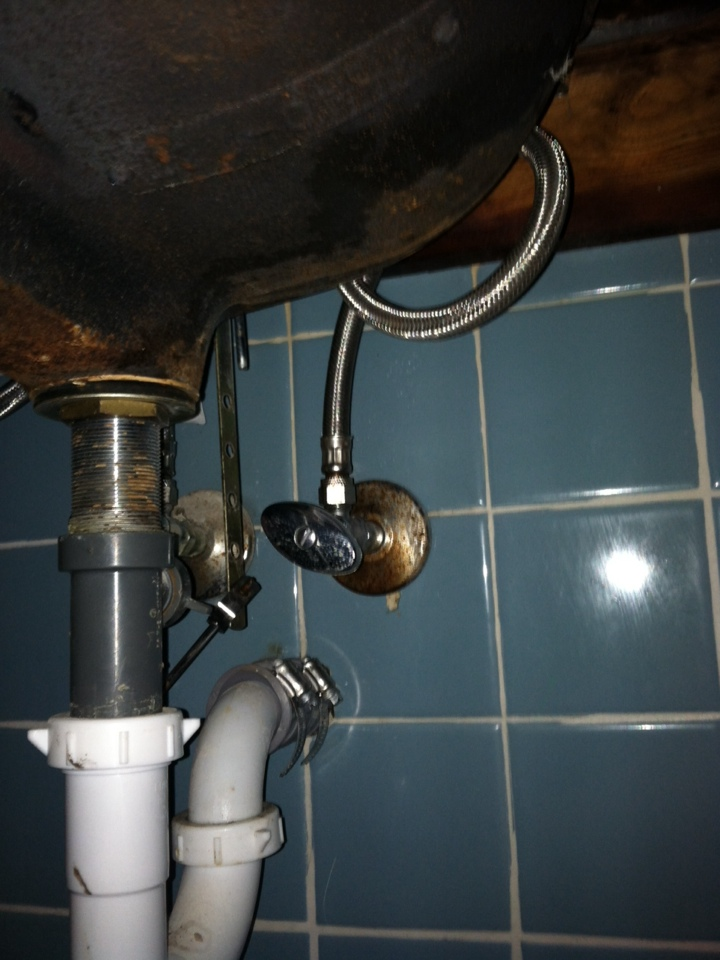 Erdenheim, PA - Replaced water line under sink in bathroom