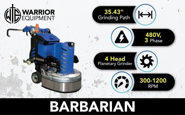 Georgetown, ON - Make concrete grinding fun again! The Barbarian helps reduce prep time and increase the efficiency/quality of the job!