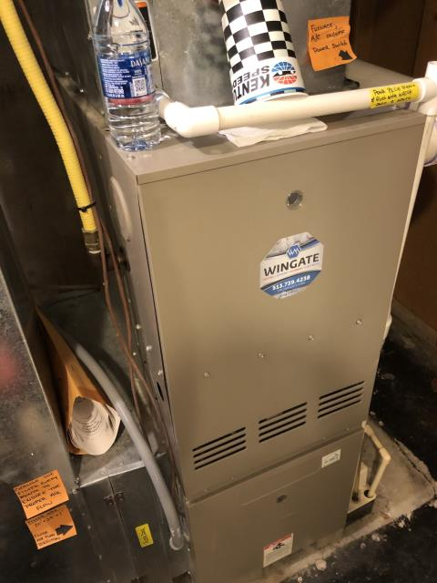 Springdale, OH - During a tune up, I unclogged tubing from humidifier. Recommend that client replace solenoid valve and condensate pump soon, gave quotes for replacements.