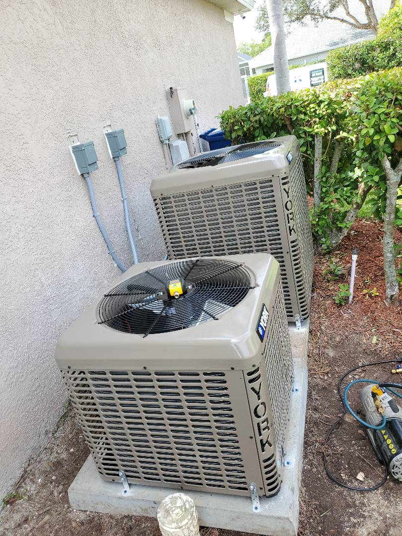 Lakewood Ranch, FL - Installing  2) York air conditioning systems.