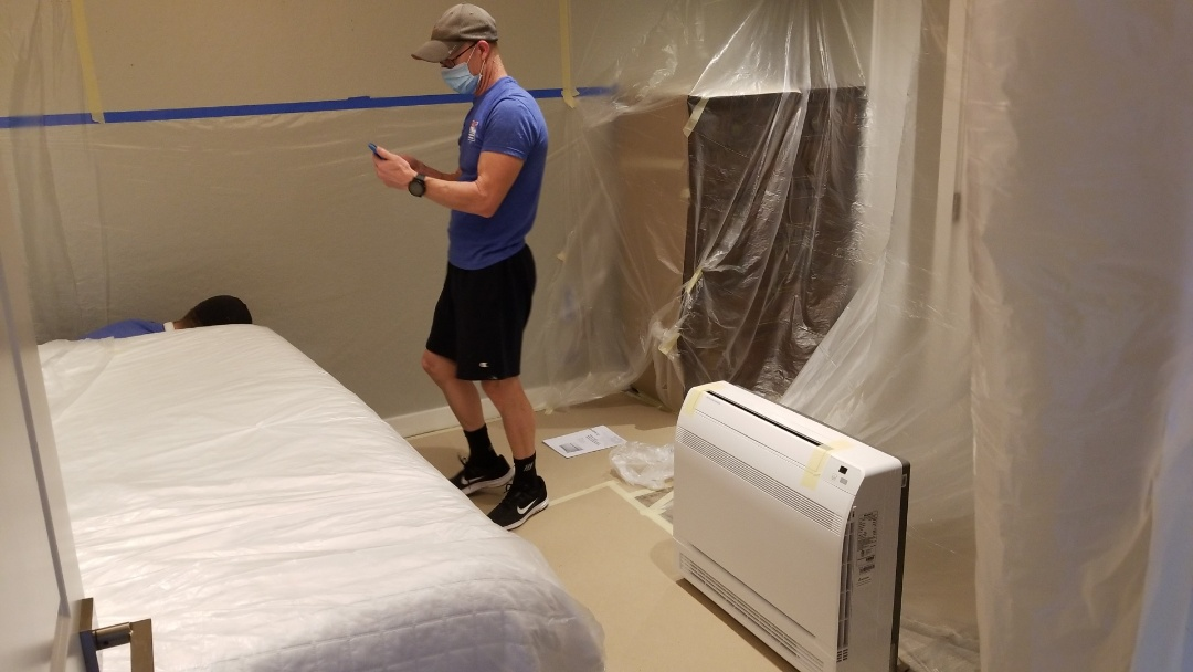 Sarasota, FL - Air duct cleaning.  And mini split system install.
