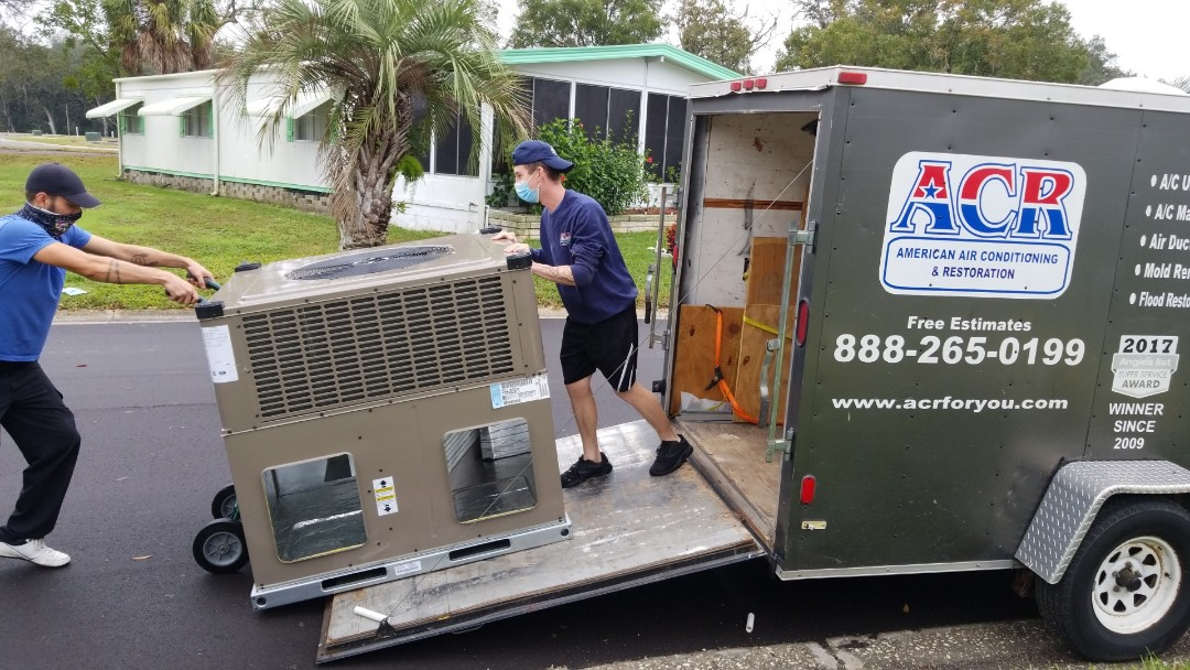 Ellenton, FL - York 3 ton package heat pump installation