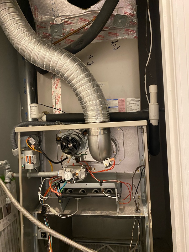 Air conditioning duct clean and blower motor pull / clean