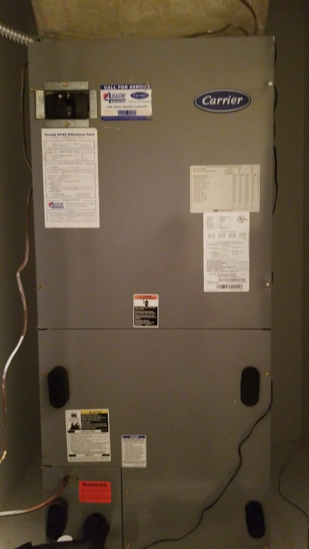 North Port, FL - Residential AC Tune Up.  3 ton Carrier split system.