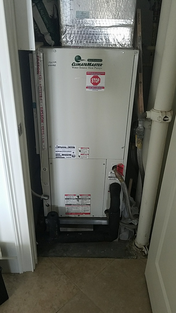 Sarasota, FL - Precision Tune Up maintenance on water source heat pump air conditioner