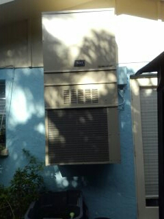 Holmes Beach, FL - New Bard wall mount 2 ton air conditioner replacement.