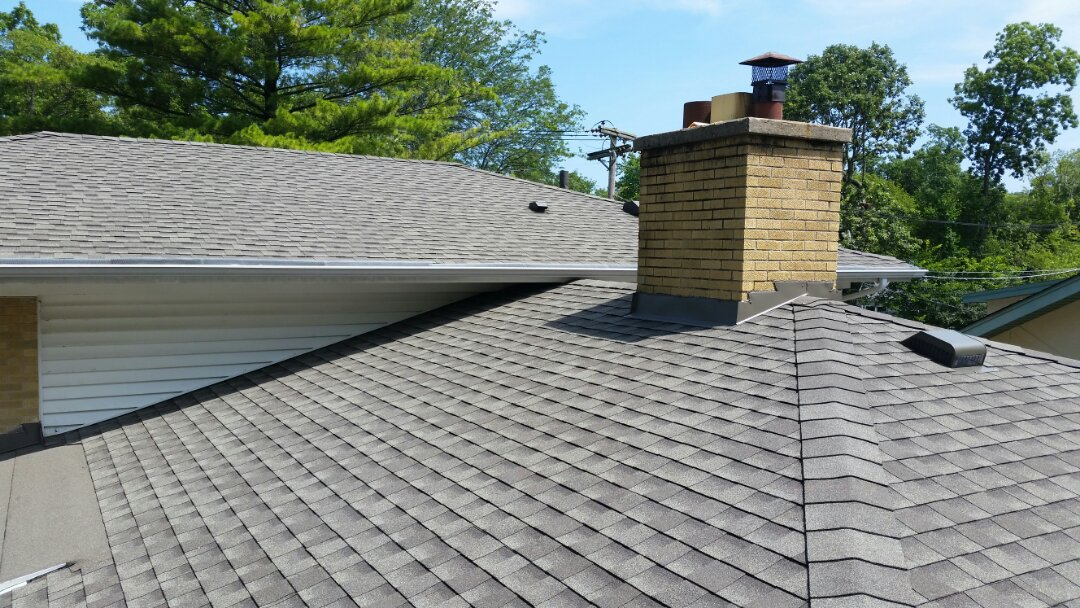 Roof installation completed. GAF Timberline Architectural shingles color: Weathered Wood