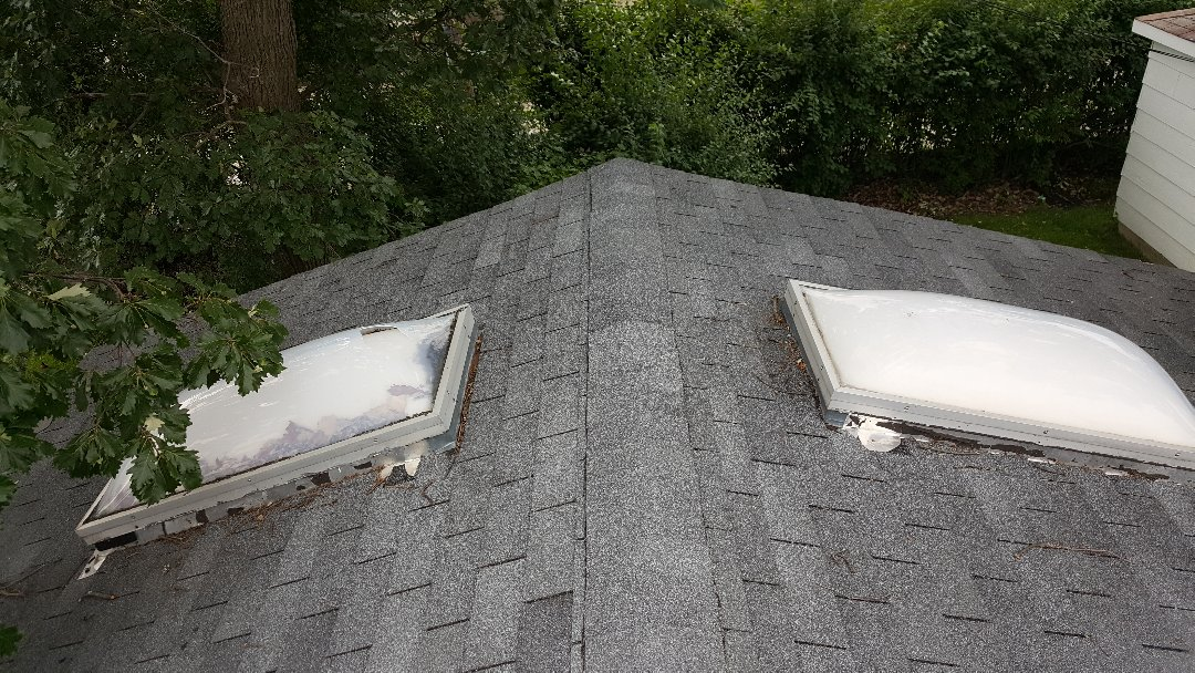 Skokie, IL - Skylight repair on a shingle roof