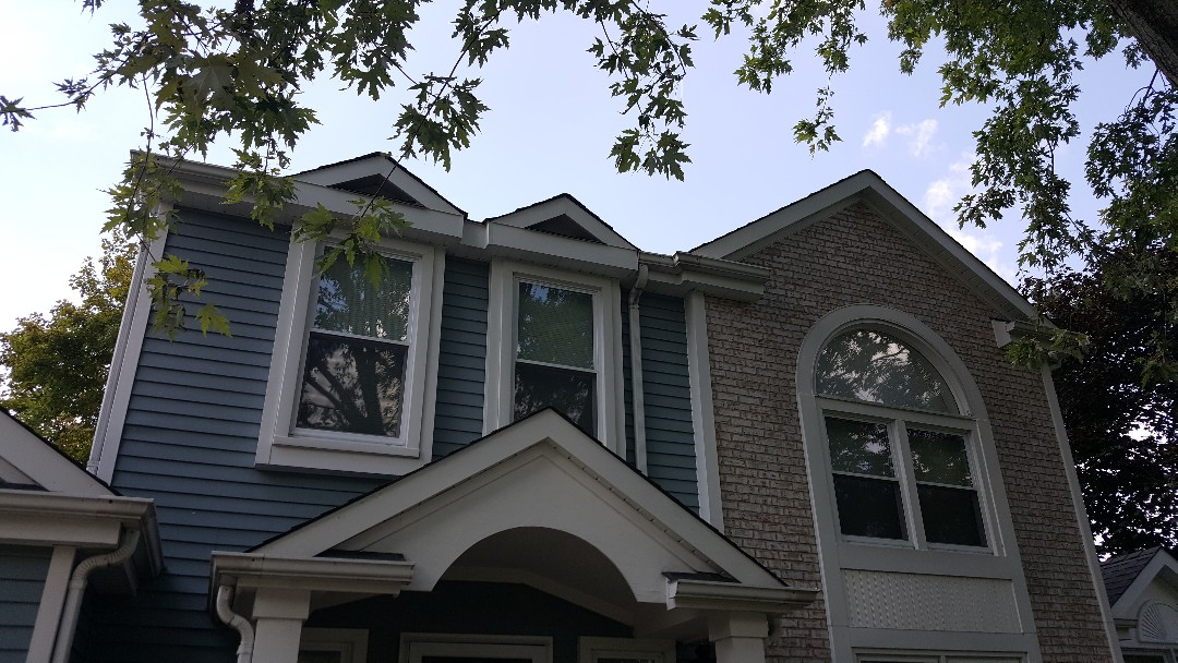 Soffit fascia gutter shingle repair
