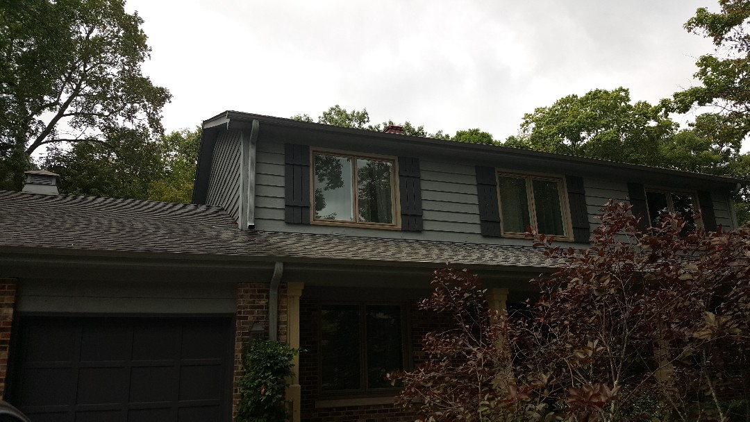 Shingle roof repair storm damage and skylights