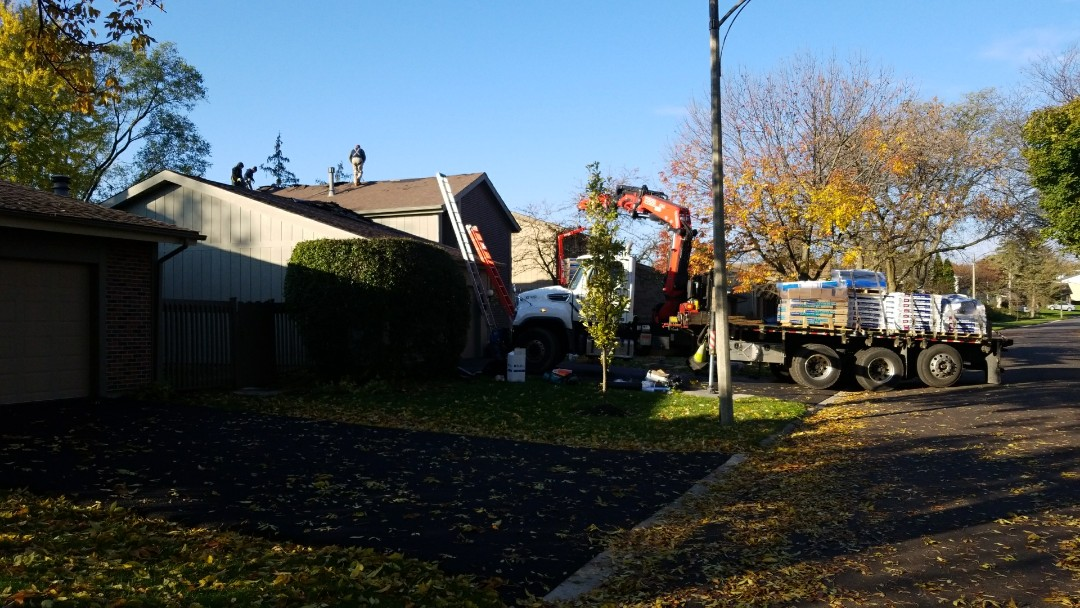 Starting full roof tear off.  Asphalt architectural shingles.