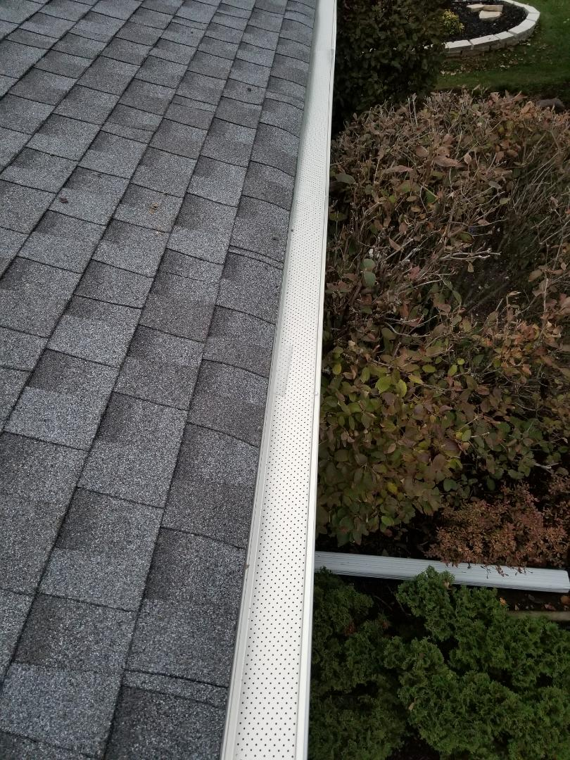 Install of leaf relief Gutter protection and new gutters